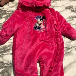 Disney pink infant Minnie Mouse bunting size 12 months